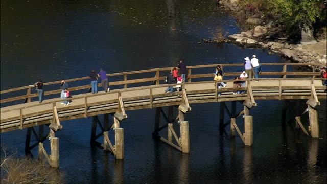 Old North Bridge - Luftbild - Massachusetts, Middlesex County, Vereinigte Staaten von Amerika