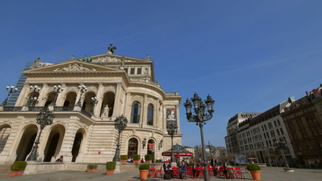 Old Opera House at Opernplatz and UBS Tower, Frankfurt am Main, Hesse, Germany