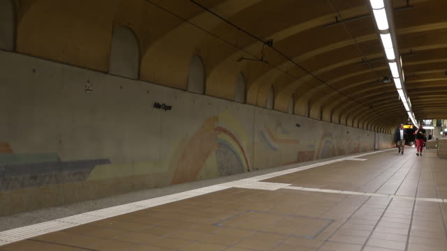 old opera station in frankfurt - famous place stock videos & royalty-free footage