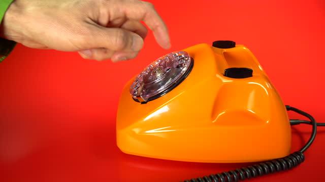 old orange telephon - landline phone stock videos & royalty-free footage