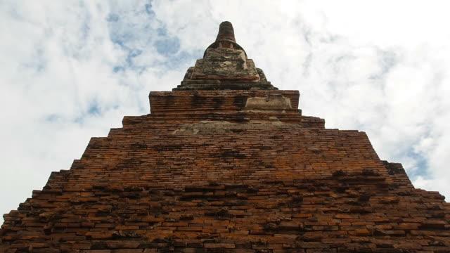 alte pagode und blauen himmel im tempel wat phra mahathat-tempel - buddha stock-videos und b-roll-filmmaterial