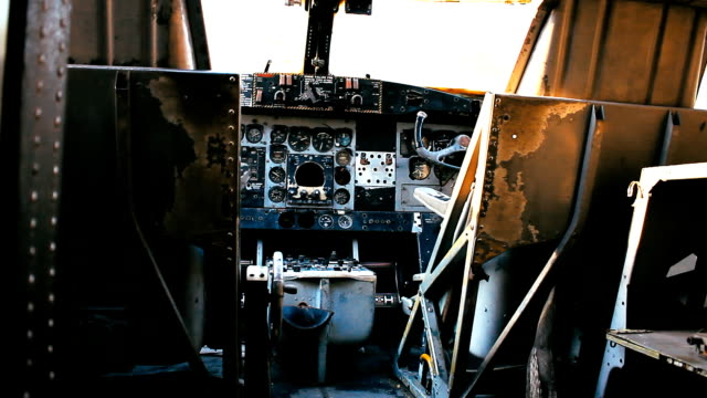 old passenger plane cockpit console - switch stock videos & royalty-free footage