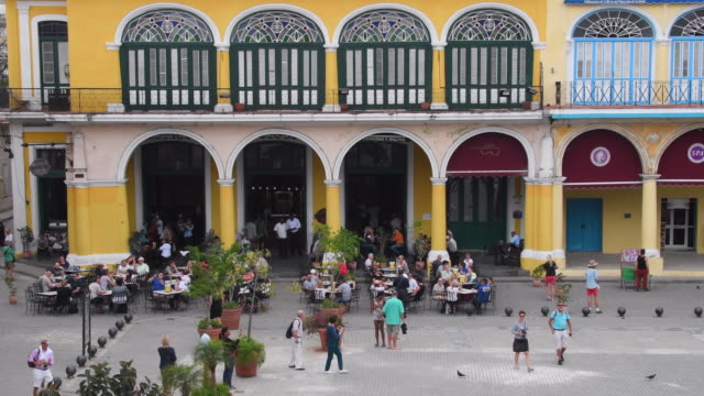 'old plaza' in old havana historic center which is a unesco world heritage site, cuba - plaza vieja stock videos and b-roll footage