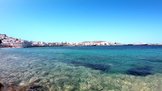 old port - mykonos, greece - mykonos stock videos & royalty-free footage