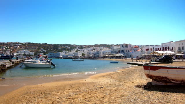 old port - mykonos, greece - mykonos stock videos & royalty-free footage