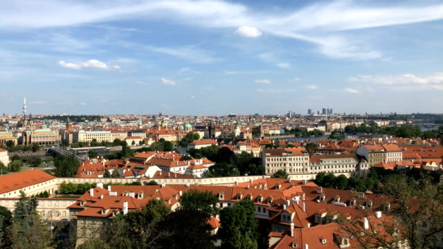 old prague roofs - eastern european culture stock videos & royalty-free footage
