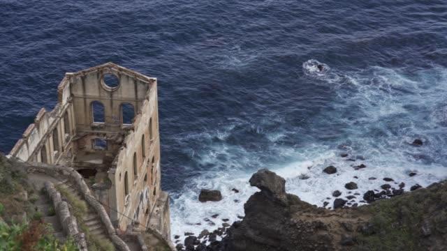 old pump building called casa del agua, tenerife, canary islands, spain, atlantic, europe - agua点の映像素材/bロール