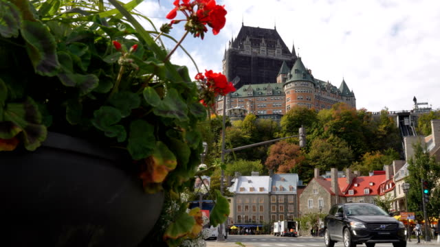 old quebec city - patio stock videos & royalty-free footage