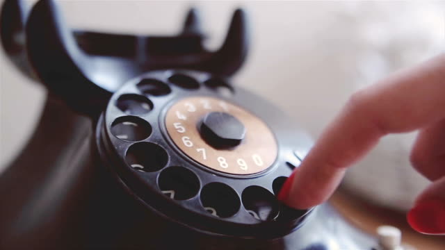 old, rare, vintage, telephone - landline phone stock videos and b-roll footage