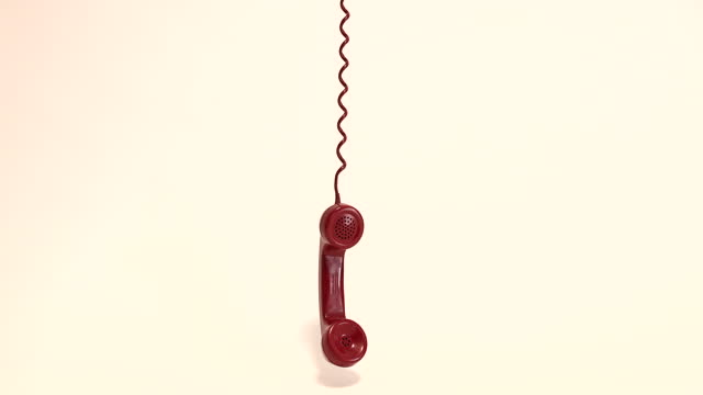 old red telephone handset - telephone receiver stock videos & royalty-free footage