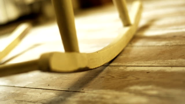 old rocking chair (1080p) - rocking chair stock videos & royalty-free footage