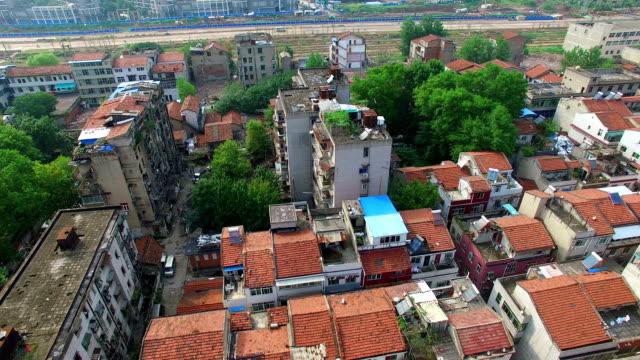 Alten Dächer in Wuhan, Provinz Hubei, China