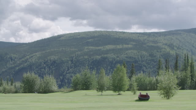 old rowboat in yukon park - dawson city stock videos and b-roll footage