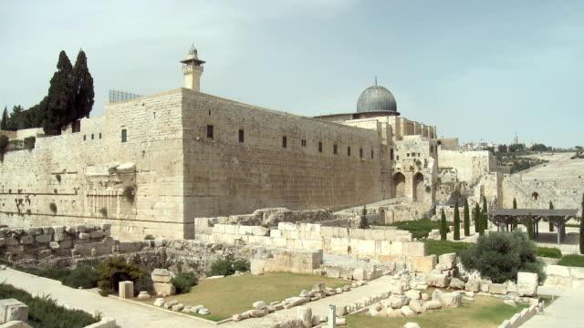 ws pan old ruins / jerusalem, israel - old town stock videos & royalty-free footage