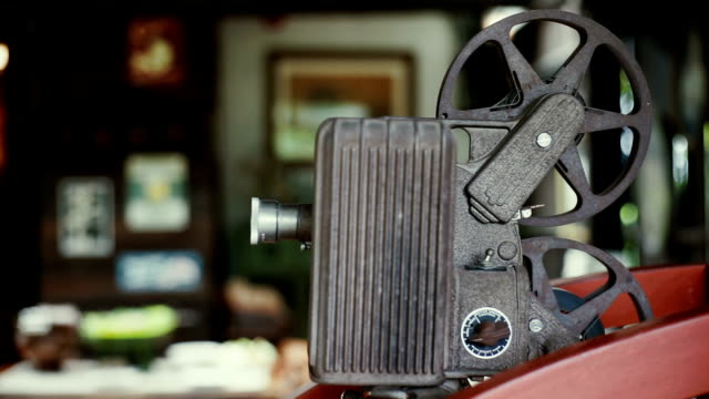 old rusty analog film movie projector. - projection equipment stock videos & royalty-free footage