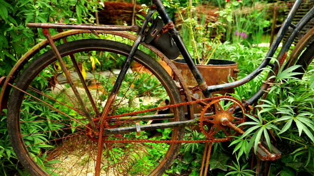 Old rusty bicycle