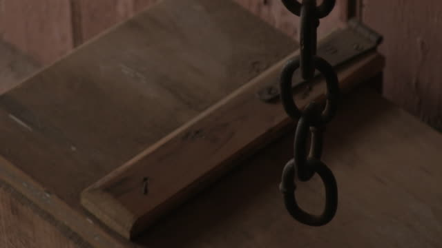 old rusty chain and wood - imperfection stock videos and b-roll footage