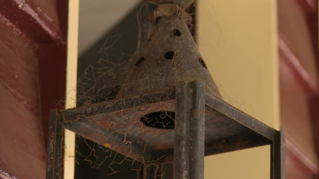 old rusty lamp of a house - imperfection stock videos and b-roll footage