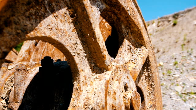 old rusty machine in the quarry - weathered stock videos and b-roll footage