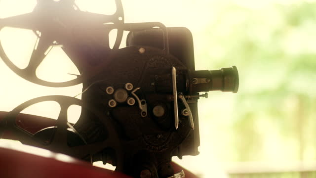old rusty movie projector. - projection equipment stock videos & royalty-free footage