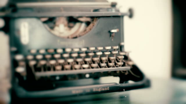 old rusty typewriter on the table. - imperfection stock videos & royalty-free footage