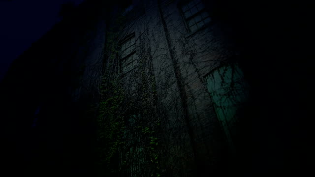 Old scary building bei Nacht