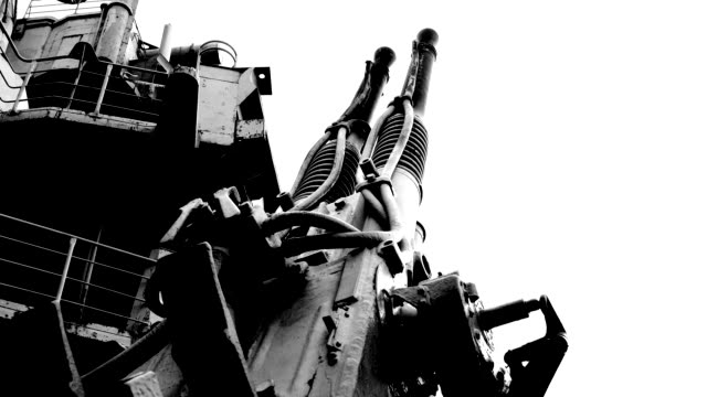 old shipboard anti-aircraft gun - anti aircraft stock videos & royalty-free footage