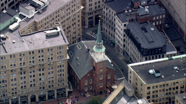 Old South Meeting House  - Aerial View - Massachusetts,  Suffolk County,  United States