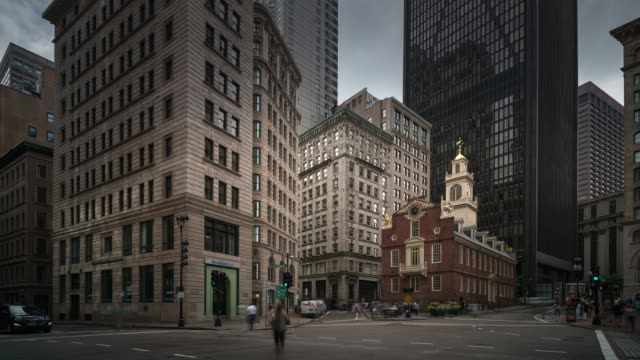 old state house boston, us - road junction stock videos & royalty-free footage