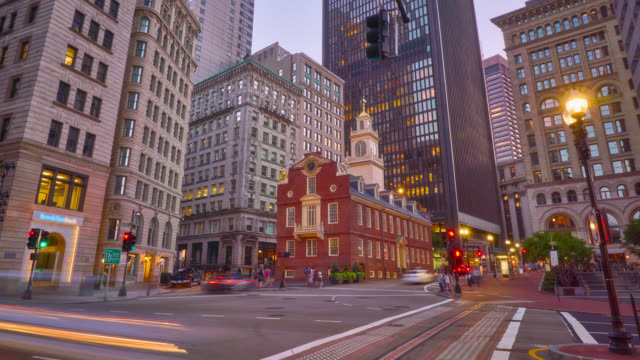 old state house. boston - boston massachusetts stock-videos und b-roll-filmmaterial