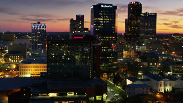 old state house museum and downtown skyline in little rock, arkansas at sunset - arkansas stock videos & royalty-free footage