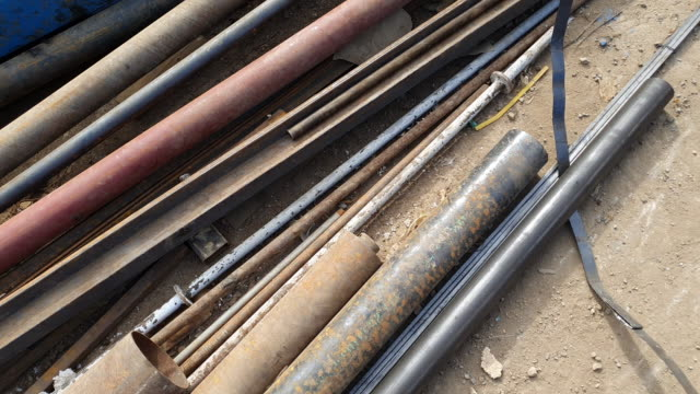 old steel pipe - pipe tube stock videos & royalty-free footage