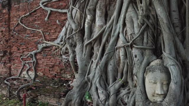 old stone buddha statues - buddha stock videos & royalty-free footage