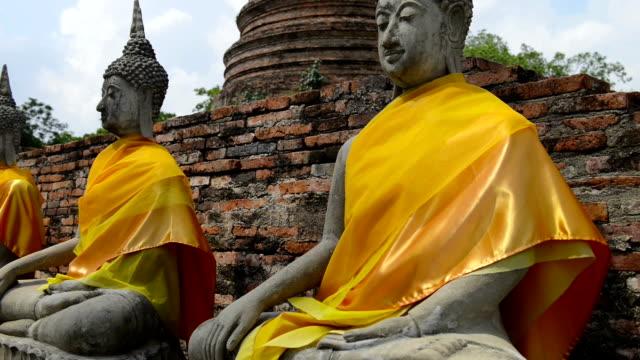 Old Stone Buddha Statues