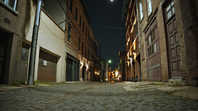 old street. dark, horror, nightmare - street stock videos & royalty-free footage