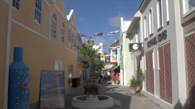 old street in philipsburg, philipsburg, st. maarten, dutch antilles, west indies, caribbean, central america - tropical climate stock videos & royalty-free footage