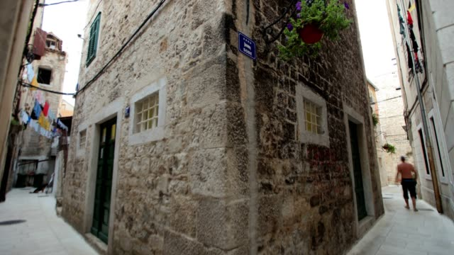 old street in split (day) - retro poster stock videos & royalty-free footage