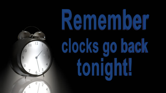 Oude stijl alarmklok een uur terug te gaan