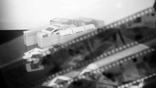 old style photography: selecting black and white film - negatives stock videos & royalty-free footage