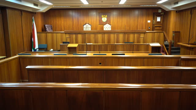 old style wood panelled courtroom, empty - legal trial stock videos & royalty-free footage