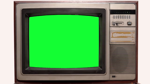 old television vintage style with signal interference on white background - television chroma key stock videos & royalty-free footage
