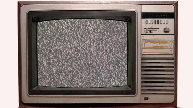 old television vintage style with signal interference - projection equipment stock videos & royalty-free footage
