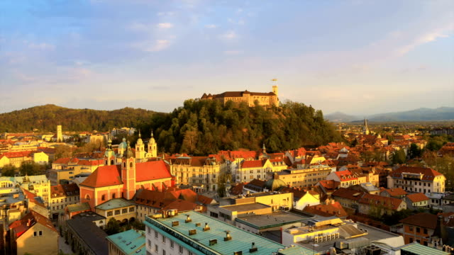 old town and castle - slovenia stock videos & royalty-free footage