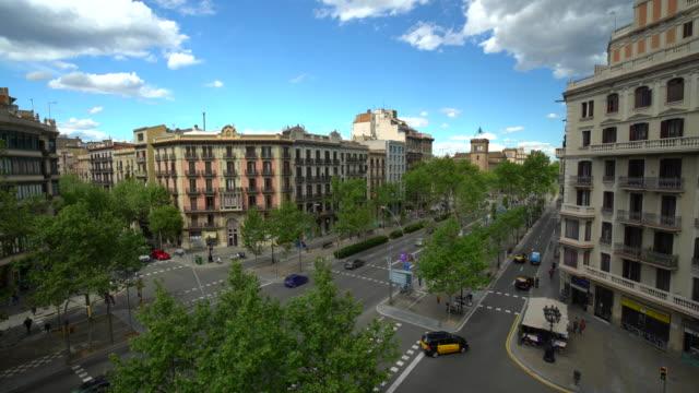 vidéos et rushes de vieille ville de barcelone, laps de temps - barcelone espagne