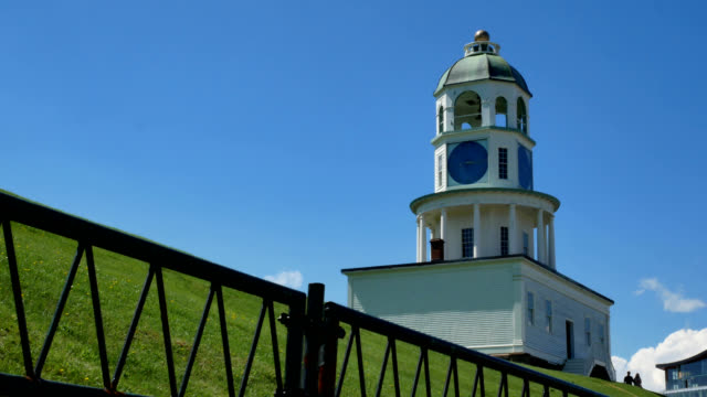 old town clock halifax nova scotia - fortress stock videos & royalty-free footage