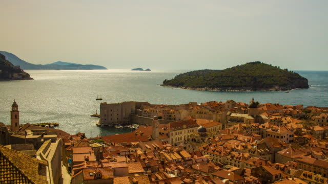 Old town Dubrovnik with sea view