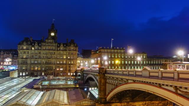 Old town Edinburgh at night, Scotland UK