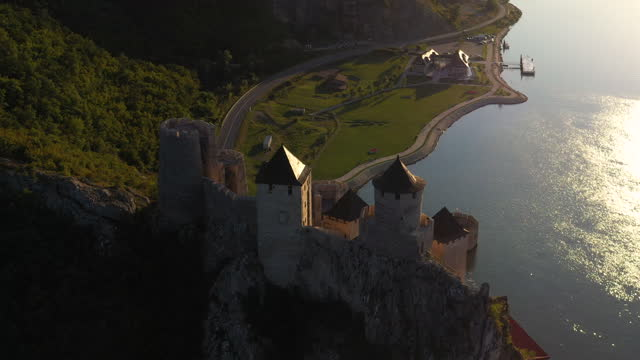old town golubac - famous place stock videos & royalty-free footage