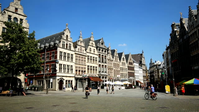 Vieille ville d'Anvers, en temps réel