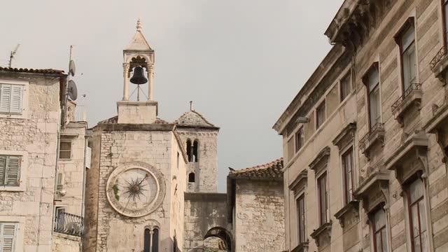 old town in split - steeple stock videos & royalty-free footage